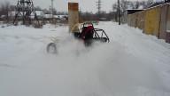 Средний багги WRM по глубокому снегу